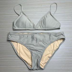J. Crew Taupe Gray French Bikini Swim Top & Bottom